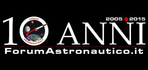 Il banner per i 10 anni di ForumAstronautico.it. Credit: Riccardo Rossi